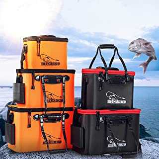 Homebeast Fishing Bucket EVA Fishing Water Bucket Collapsible Live Fish Box Water Container for Traveling Hiking Fishing Boating