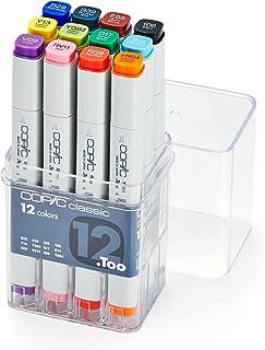 Copic Marker 12pc Basic Set, Multi Color, CCB12, COP 2007502