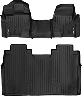 MAXLINER Floor Mats 2 Row Liner Set Black for 2015-2018 Ford F-150 SuperCrew Cab with 1st Row Bench Seat
