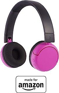 BuddyPhones PopTime - Nuove cuffie Bluetooth Made for Amazon, per bambini e ragazzi da 8 a 15 anni, rosa