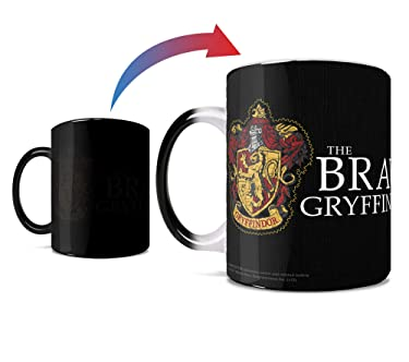 Harry Potter - Gryffindor - Hogwarts Robe Design - One 11 oz Morphing Mugs Color Changing Heat Sensitive Ceramic Mug – Image Revealed When HOT Liquid Is Added!