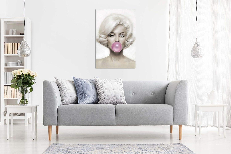 A0 91x61cm color rosa Lienzo de pared con dise/ño de Marilyn Monroe 36x24in Rosa