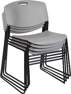 Regency Zeng Stack Chair (4 Pack), Grey