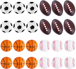 Super Z Outlet Sports Themed Mini Stress Balls Squeeze Foam for Anxiety Relief, Relaxation, Party Favor Toy, Gifts (24 Pack)