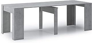 Skraut Home - Table Console Extensible jusqu'à 237 cm, Couleur Ciment, Dimensions fermée : 90x50x78 cm de Haut