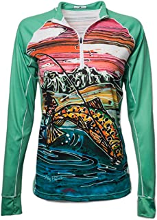 Sponsored Ad - Bold Babe Women's Sun Protective Long Sleeve Zip Neck - SPF Clothing Perfect for Enjoying The Outdoors - Ti...