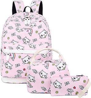 Backpack for School Girls Teens Bookbag Set Kids School Bag 15 inches Laptop Daypack