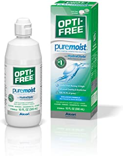 Opti-Free Puremoist Multi-Purpose Disinfecting Solution with Lens Case, 10-Ounces, 10 FL Oz (Pack of 1)