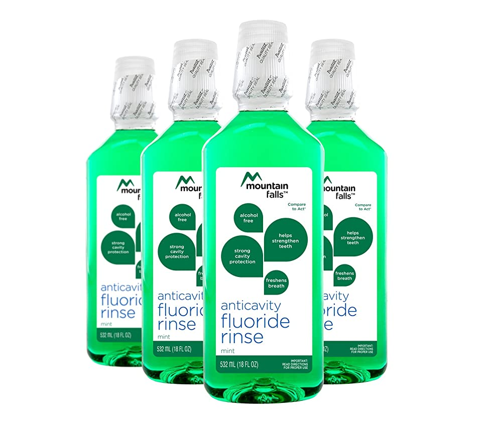 Mountain Falls Anticavity Fluoride Rinse, Mint, 18 Fluid Ounce (Pack of 4)
