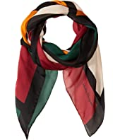 Salvatore Ferragamo - Color Block Silk Scarf