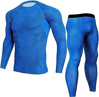 ZSQAW Sport Sets Men's Running Kit Bodybuilding Compression Sport Suit T Shirt Men Fitness Leggings Joggers (Color : E, Si...