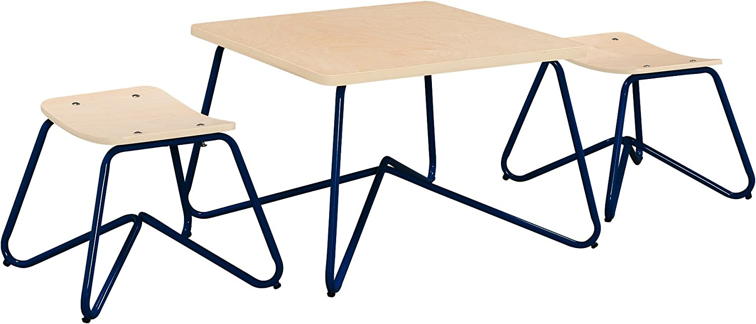 Ace Casual Kids Kellan Mixed Material Table & Stool Set One Size Navy
