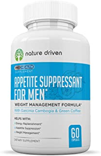 Best Appetite Suppressant for Women & Men- Weight Loss for Men - Increase Natural Energy - Boost Metabolic Rate - 30 Day Supply