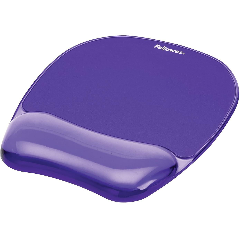 Gel Crystal Transparent Mousepad and Wrist Rest - Purple