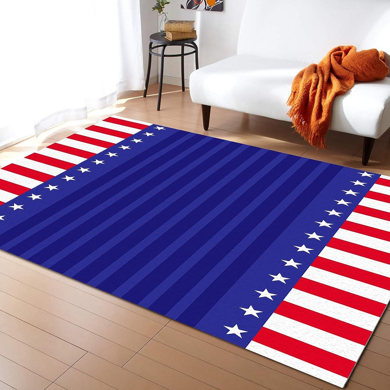 Modern Contemporary Area Rug for Living USA Room Horiz Colorado Springs Mall Red Flag 2021