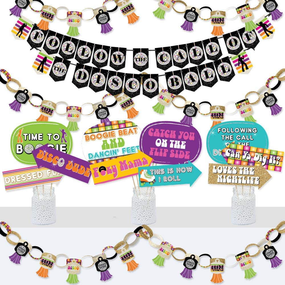 Big Max 46% OFF Dot of Happiness 70's Disco Luxury goods Banner De Photo Booth and -