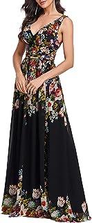 Ever-Pretty A-línea Largo Vestido de Fiesta Corte Imperio Cuello en V sin Mangas para Mujer 09016
