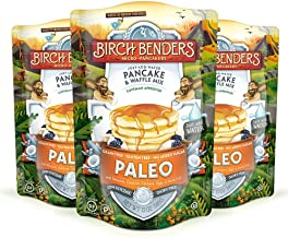 Paleo Pancake and Waffle Mix by Birch Benders, Made with Cassava, Coconut, Almond Flour, 12 Ounce (Pack of 3)