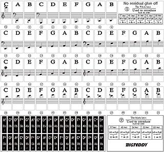 BIGTEDDY - Piano Stickers for 37/49/54/61/88 Key Keyboards -