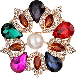 Suits Dress Banquet Brooch Clothing Accessories Fashion Style for Back to School//Party//Anniversary//Work Etc LJ2 Rhinestone Pins Brooches