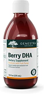 Genestra Brands - Berry DHA - Omega-3 Fatty Acids, Anthocyanins, and Vitamin C - 7.6 fl. oz. - Berry and Tropical Fruit Fl...