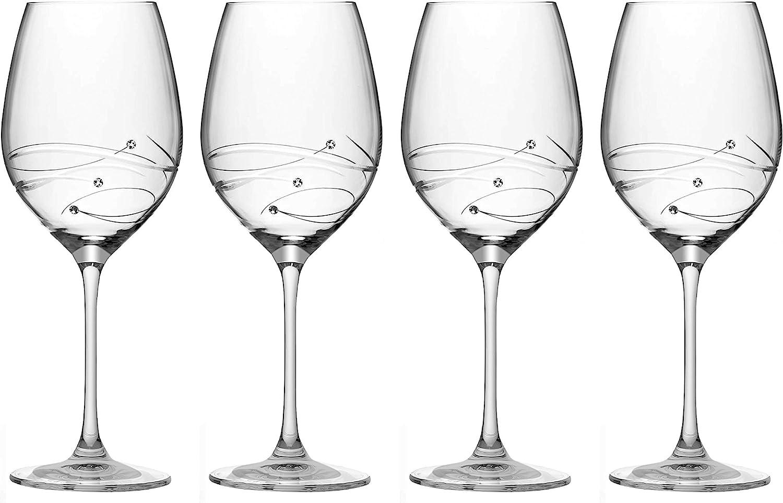 Columbus Mall Barski - Handmade Glass Sparkle Wine Decorated Charlotte Mall Red w