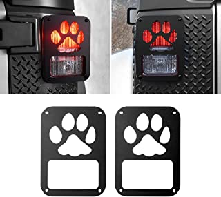 Extreme Off-Road Jeep Wrangler Taillights Covers Tail Light Guard Rear Light Cover Black Dog Paw Jeep Wrangler Accessories JK JKU & Unlimited Rubicon Sahara Sports,2007-2018 - Matte Black(2 Pcs)