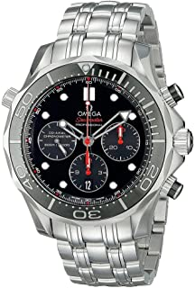 212.30.44.50.01.001 Seamaster Automatic Mens Watch - Black Dial
