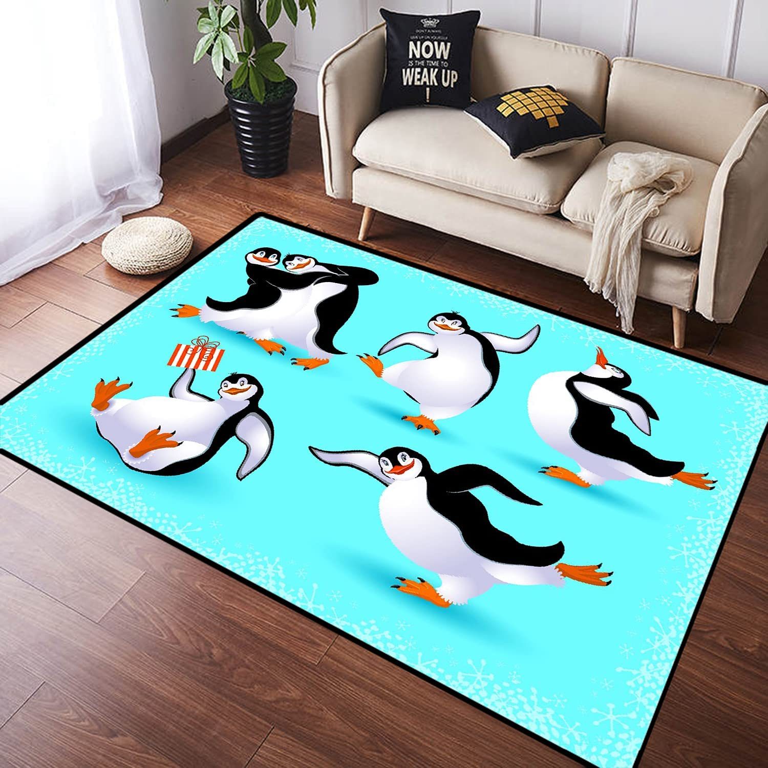 ZOMOY Long Floor Mat Carpet Penguins Abso Non-Slip Dancing Funny At the price 5 popular