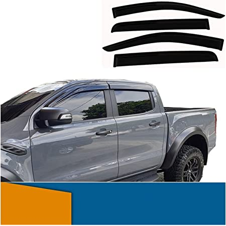 Tunez Wdfr01 Wetterschutz Windabweiser Für Ford Ranger T6 Px Mk1 Mk2 Auto
