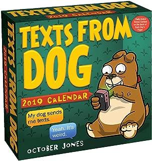 texts from dog desk calendar 2019