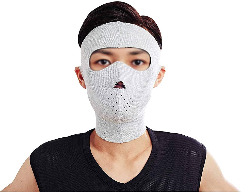 結紮カニ先生美容と実用的なフェイスリフトマスク、フェイシャルマスクプラス薄型フェイスマスクタイトアンチタギング薄型フェイスマスクフェイシャル薄型フェイスマスクアーティファクト男性ネックストラップ付き