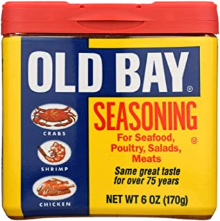 OLD BAY, SEASONING, ORIGINAL, Pack of 8, Size 6 OZ - No Artificial Ingredients GMO Free
