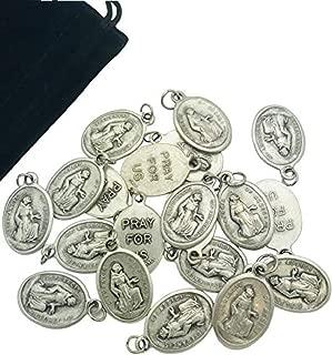 Westman Works Bulk Medal Lot Set of 20 Metal Saint Pendant W Bag from Italy