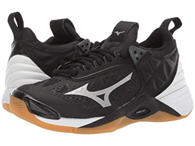 Mizuno Wave Momentum (Black/Silver) Women