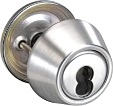 Yale Satin Chrome Deadbolt, Single, Less SFIC Core-Cylinder - B-D212 x 626
