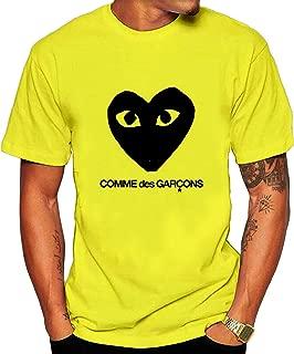 Men's CDG Black Tee shirt M Yellow