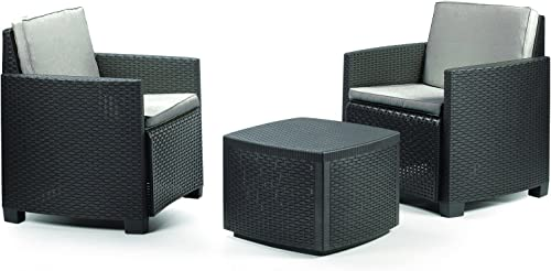 100% precio garantizado Ipae-Progarden Trinacria Set Set Set con Cojines, Antracita, 30x 30x 30cm  ventas calientes