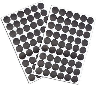 108 stuks schroefgat Covers Stickers, zwarte zelfklevende schroef gat stickers, stofdichte PVC Cover Caps Stickers voor ho...
