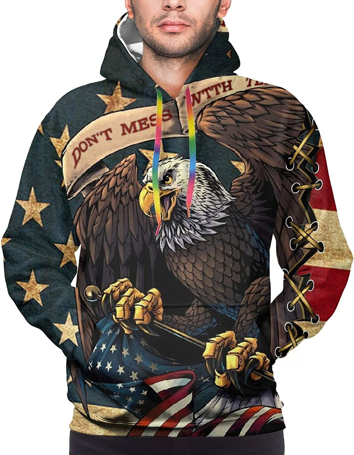 Hoodie For Men Women Unisex Dont Mess With Texas American Eagle Pullover Hooded Sports Sweatshirt