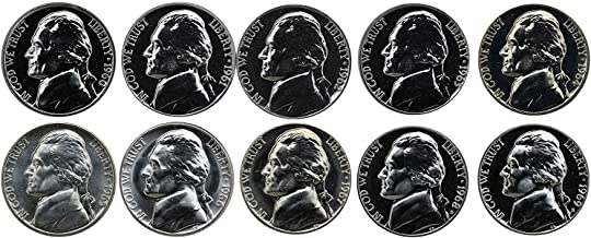 1960 S 1961 1962 1963 1964 1965 1966 1967 1968 1969 Jefferson Nickels Complete Decade - 10 coins- Proof and SMS Coins