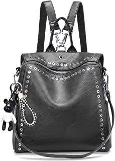 Fashion Backpack for Women, JOSEKO Casual Rucksack with Rivet Leather Daypack Shoulder Bags