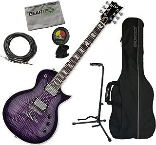 ESP LEC256FMSTPSB LTD EC-256FM See Thru Purple Sunburst Electric Guitar w/ Geart