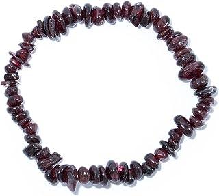 Taddart Minerals - Pulsera de piedra preciosa natural granat