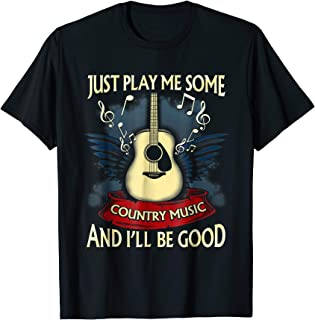 Just Play Me Some Country Music Distressed Country Shirt