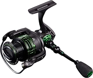 Bassdash Alien Ultra Lightweight Carbon Spinning Fishing Reel, BlueMagic Reel with Aluminum Body and Carbon Rotor, Stainless Steel Bearings and Carbon Fiber Drag, in 5 Sizes