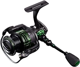 Bassdash Alien Lightweight Carbon Spinning Fishing Reel, BlueMagic Reel with Aluminum Body and Carbon Rotor, Stainless Steel Bearings and Carbon Fiber Drag, in Sizes 1000, 2000, 3000, 4000, 5000