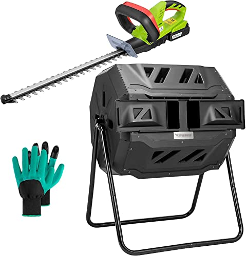 popular VIVOSUN Dual outlet sale Rotating Batch Compost high quality Bin with 20V Cordless Hedge Trimmer online