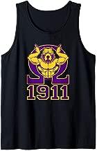 Mens Omega 1911 Hand Sign Purple Gold Bull Dog Tank Top