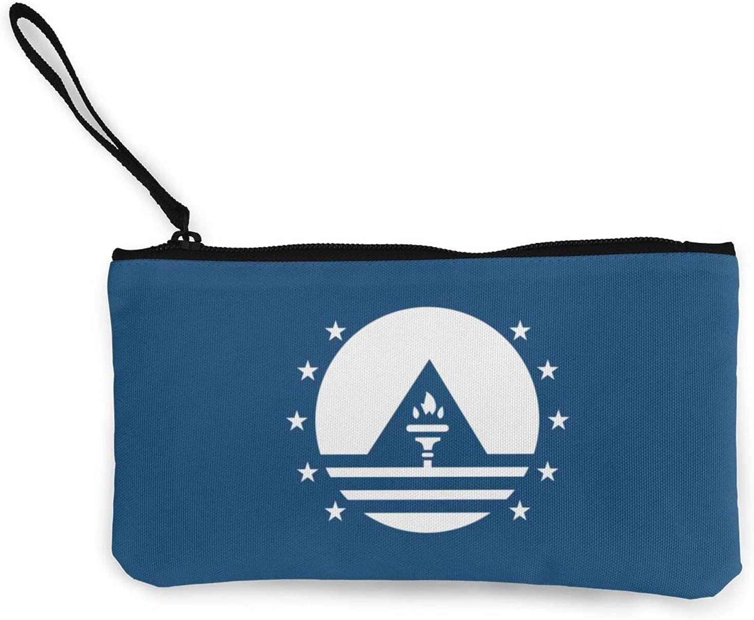 New Cape Verde Flag Multifunction Travel Toiletry Pouch Small Canvas Coin Wallet Bag Zipper